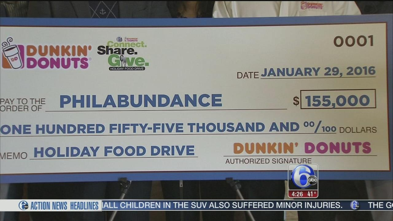 Philabundance gets support from Dunkin Donuts and 6ABC