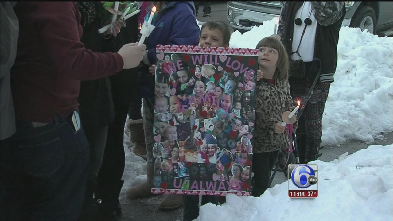 VIDEO: Vigil for preg teen snow death