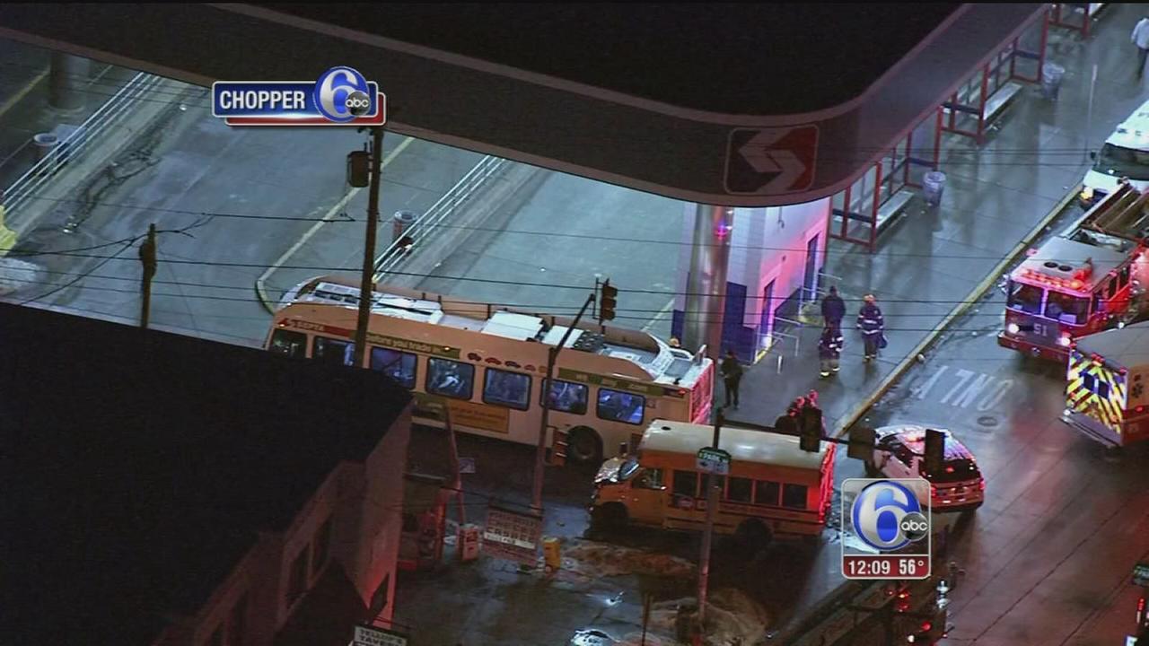 VIDEO: SEPTA bus, school bus collide