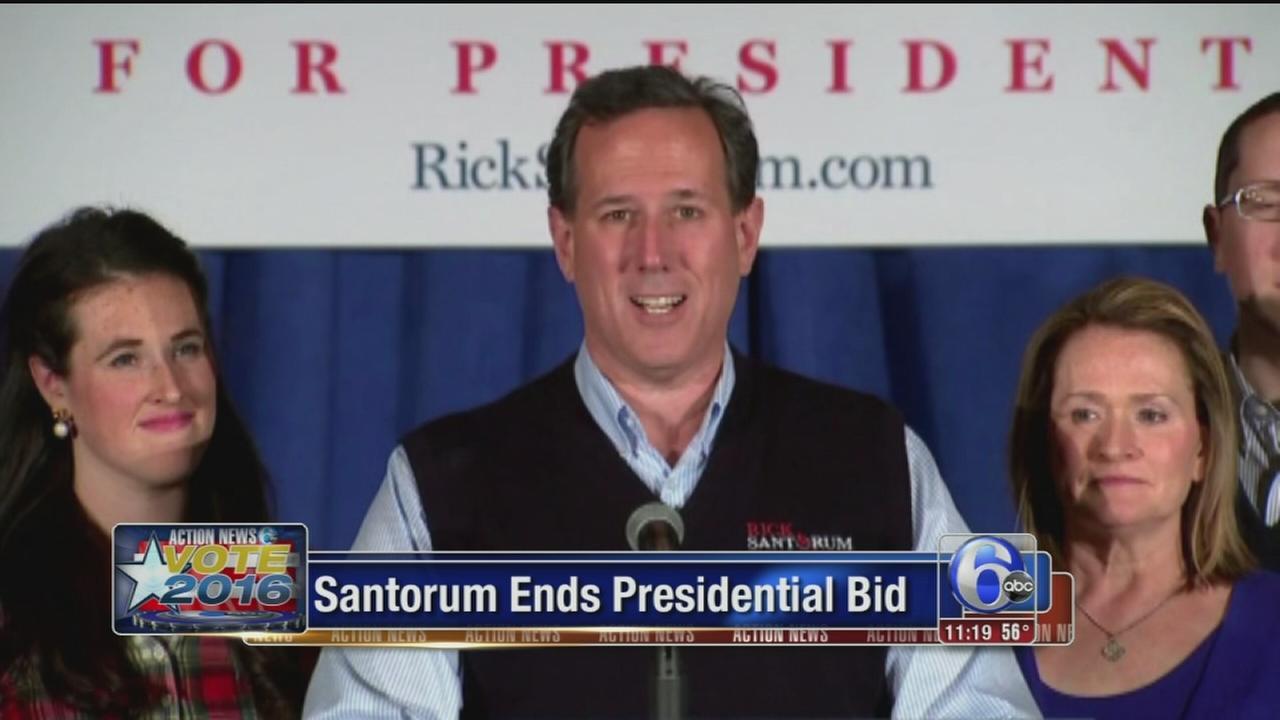 VIDEO: Santorum ends prez bid