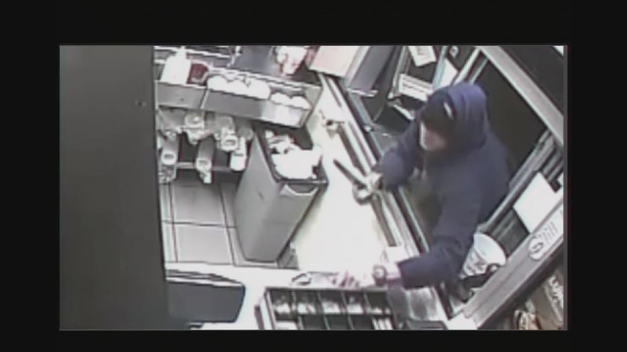 VIDEO: Dunkin Donuts robbery caught on video
