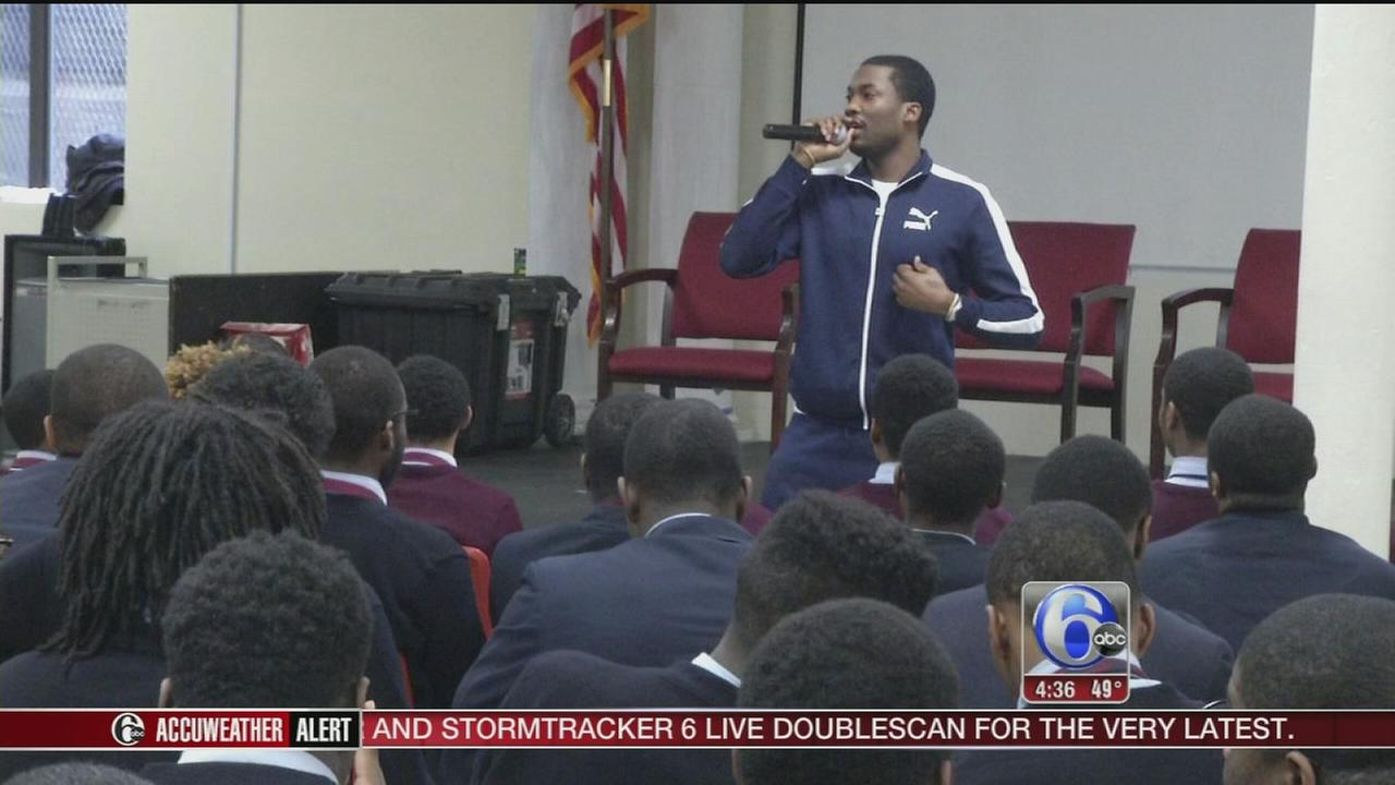 VIDEO: Meek Mill speaks to students