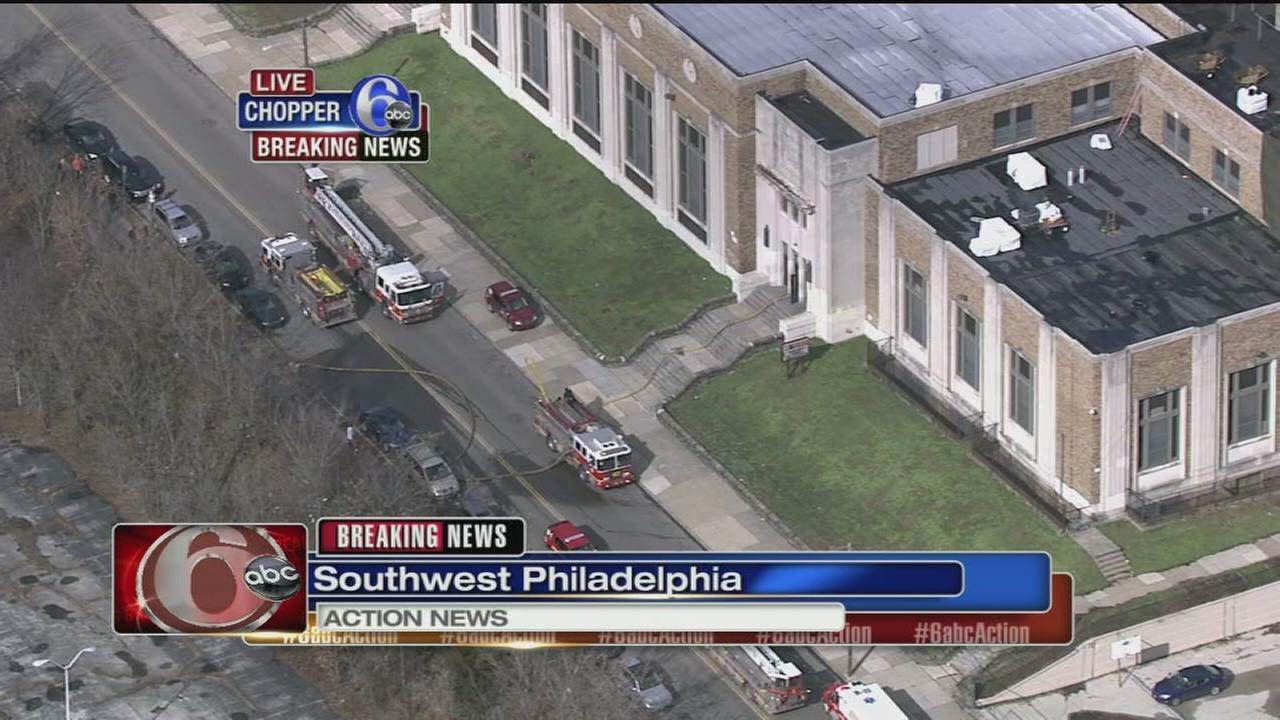VIDEO: Phila. school evacuated for fire