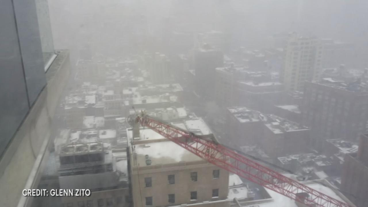 VIDEO captures crane falling in NYC
