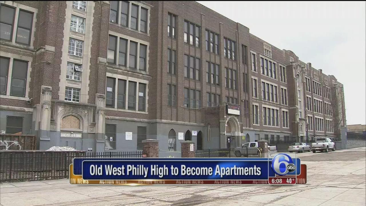 VIDEO: Old West Phila. High to become apartments