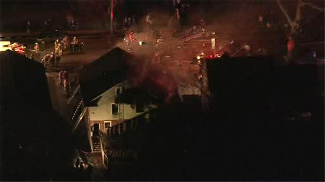 A one-alarm fire broke out Friday night at a home in Delaware County.