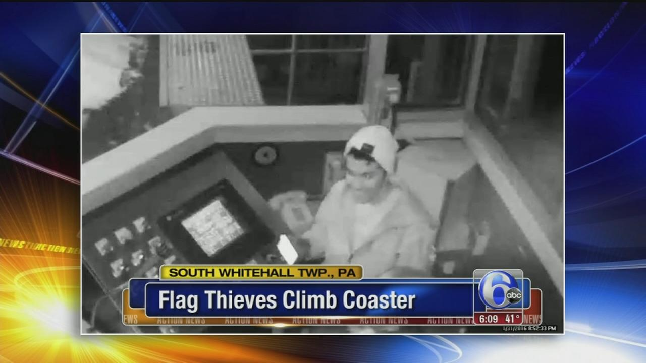 VIDEO: Dorney Park flag thieves