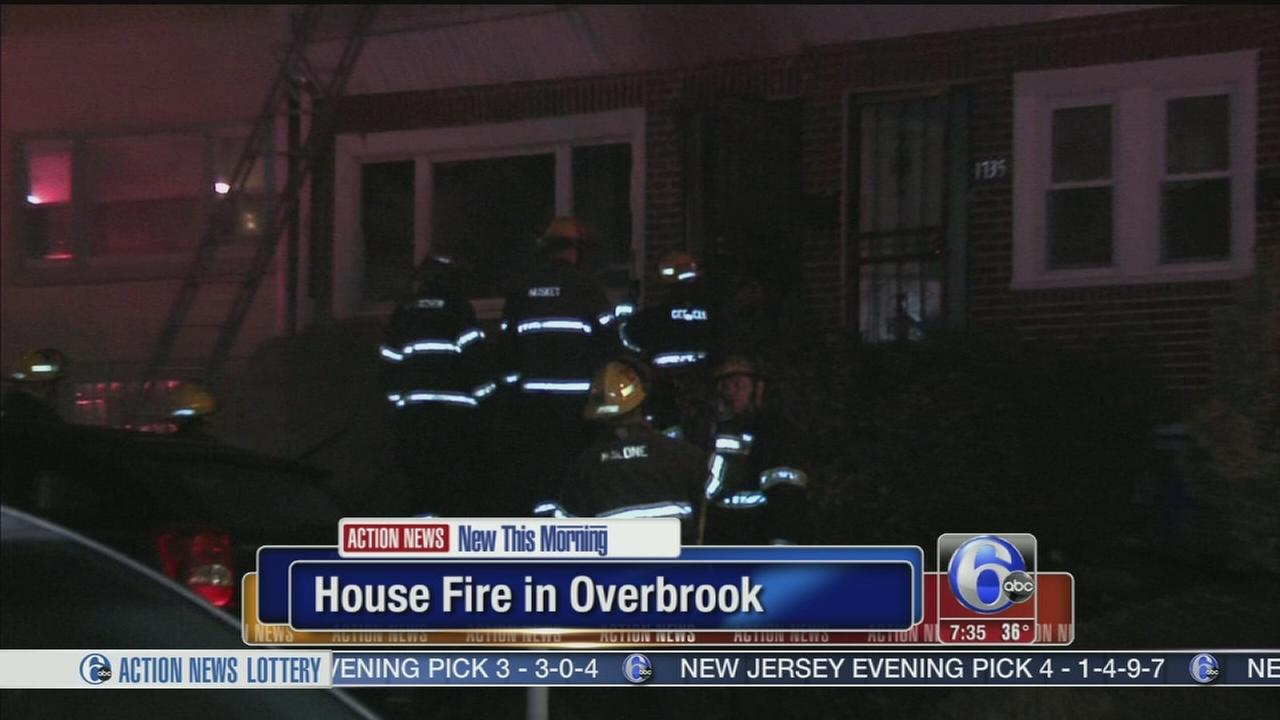 VIDEO: House fire in Overbrook
