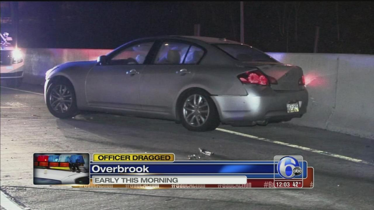 VIDEO: Officer dragged in Overbrook