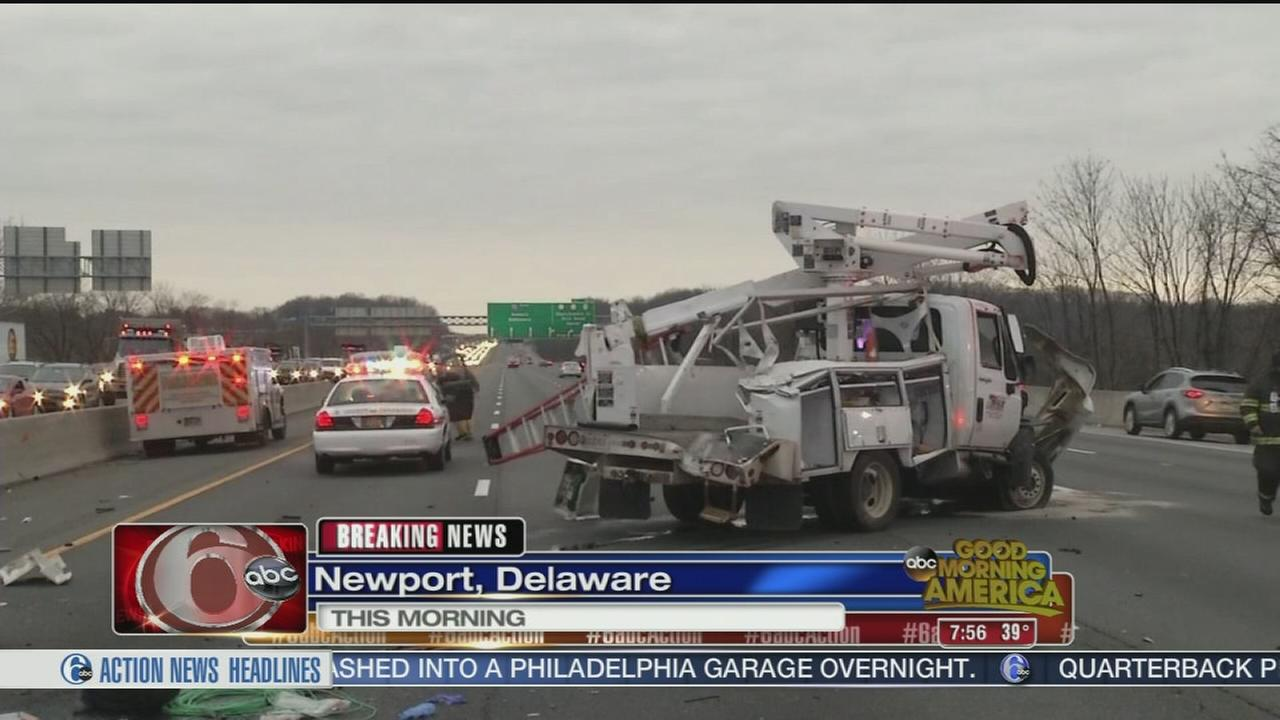VIDEO: Crash on I-95 in Delaware
