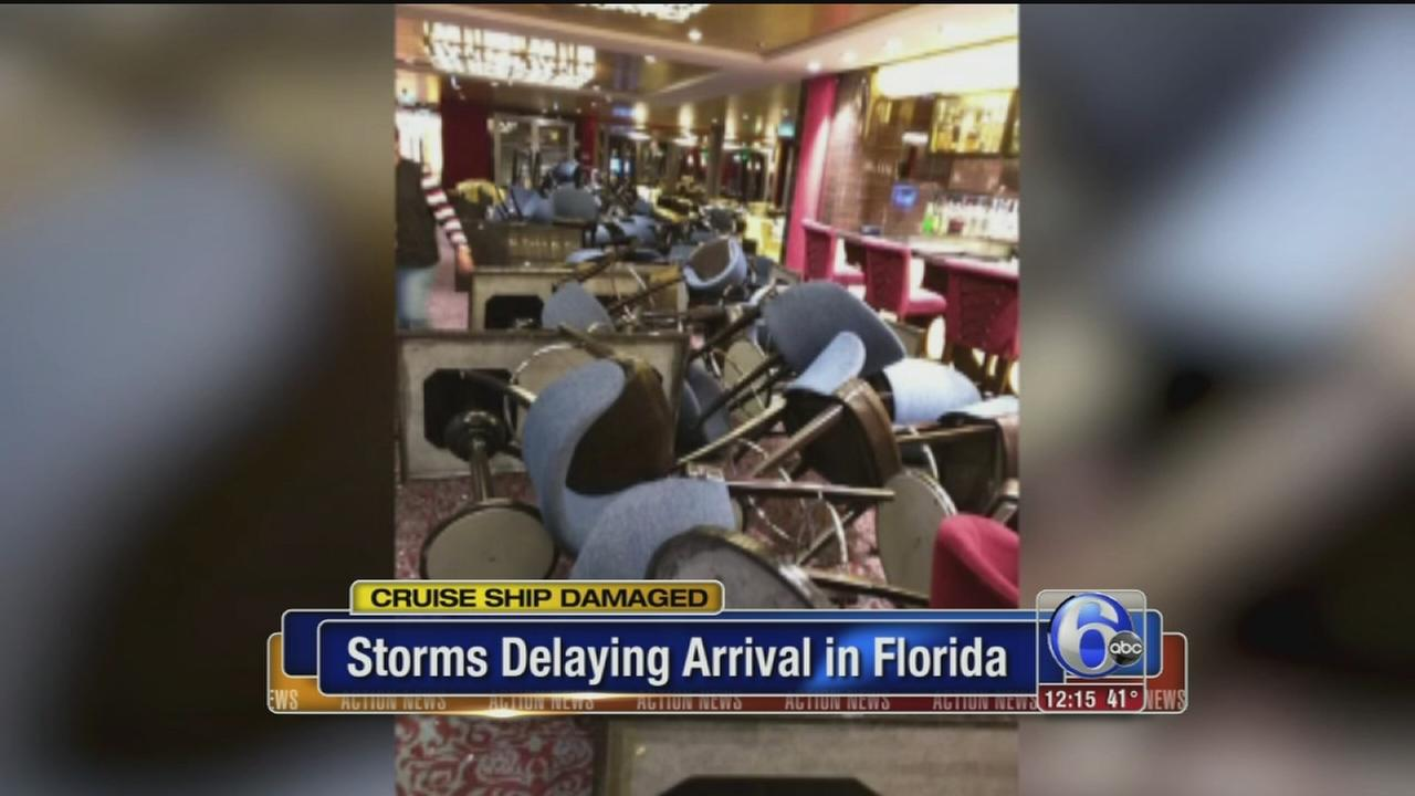 VIDEO: Storms delaying cruise ship arrival in Florida