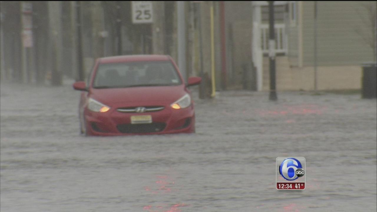 VIDEO: Storm causes tidal flooding along New Jersey shore