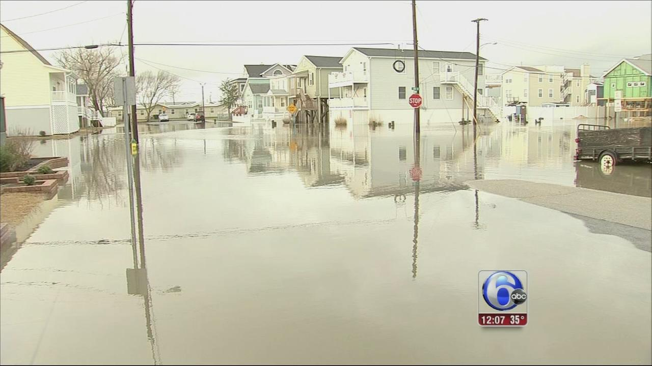 VIDEO: Flooding concerns at the shore