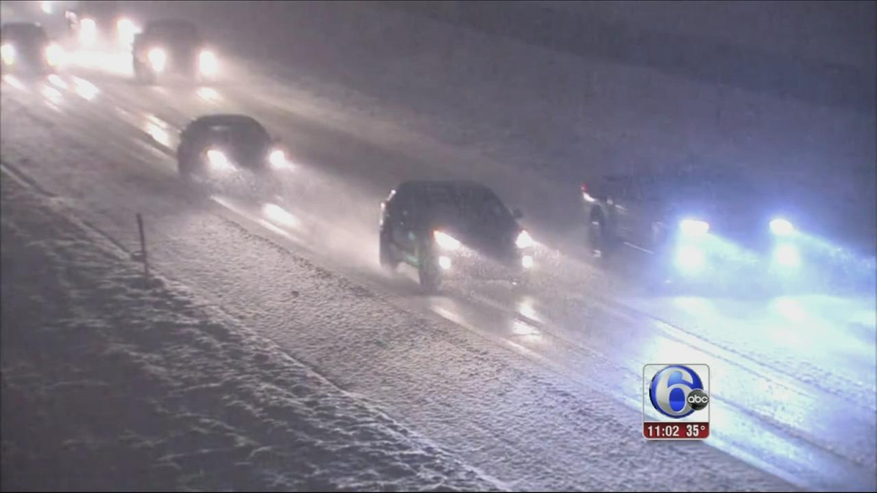 VIDEO: Intermittent snow making way for single digit temperatures