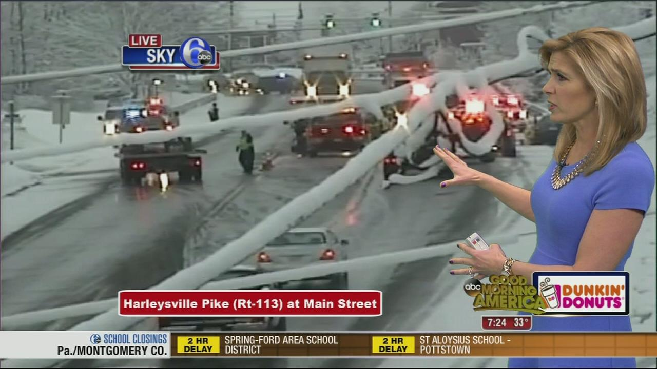 VIDEO: Icy conditions lead to crashes