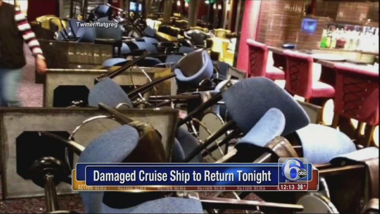 VIDEO: Storm-battered Anthem of the Seas cruise ship returning to homeport