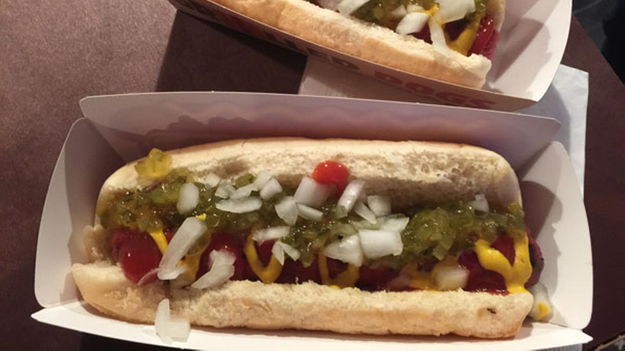 This Tuesday, Feb. 9, 2016, photo, shows a Burger King classic hot dog at a media event to introduce the restaurants new menu item, in New York.