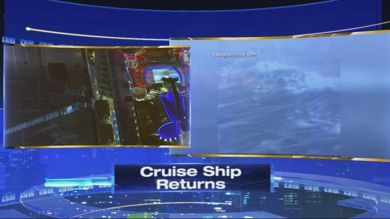 VIDEO: Cruise ship returns