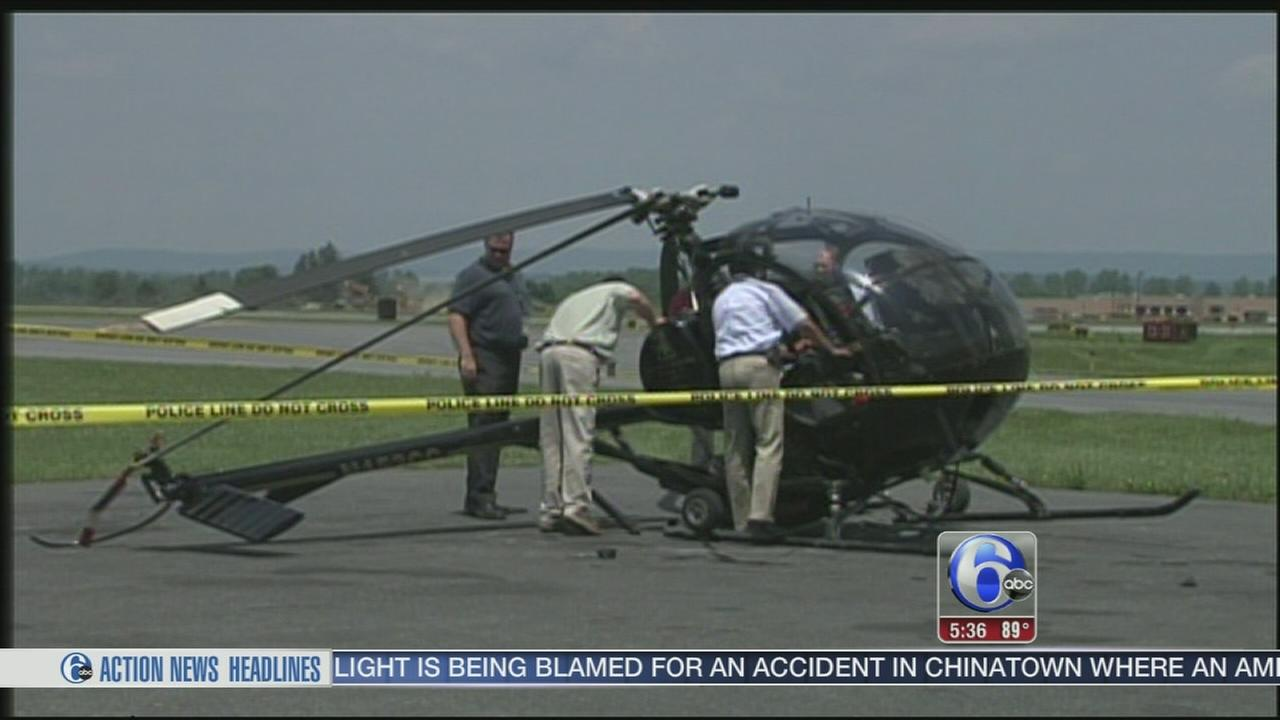 VIDEO: Helicopter pilot injured in hard landing in Allentown