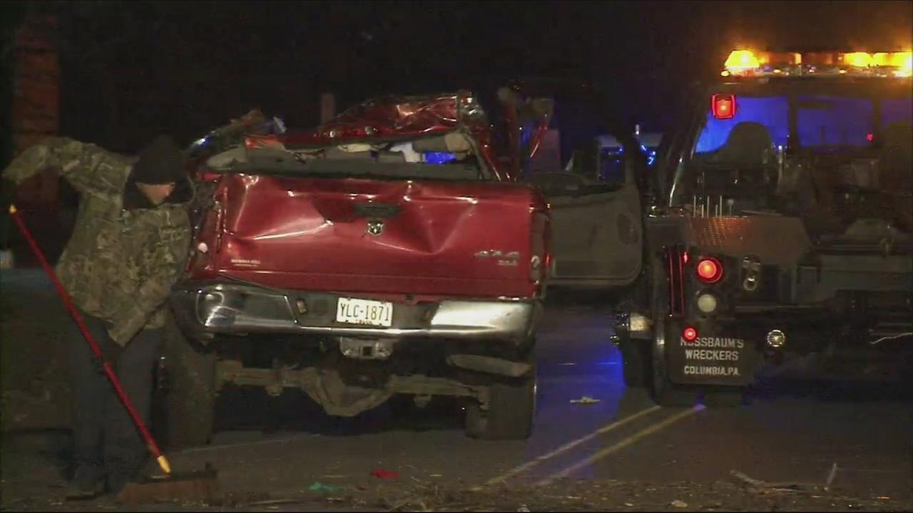 VIDEO: Driver killed in pick-up truck crash in Bucks Co.