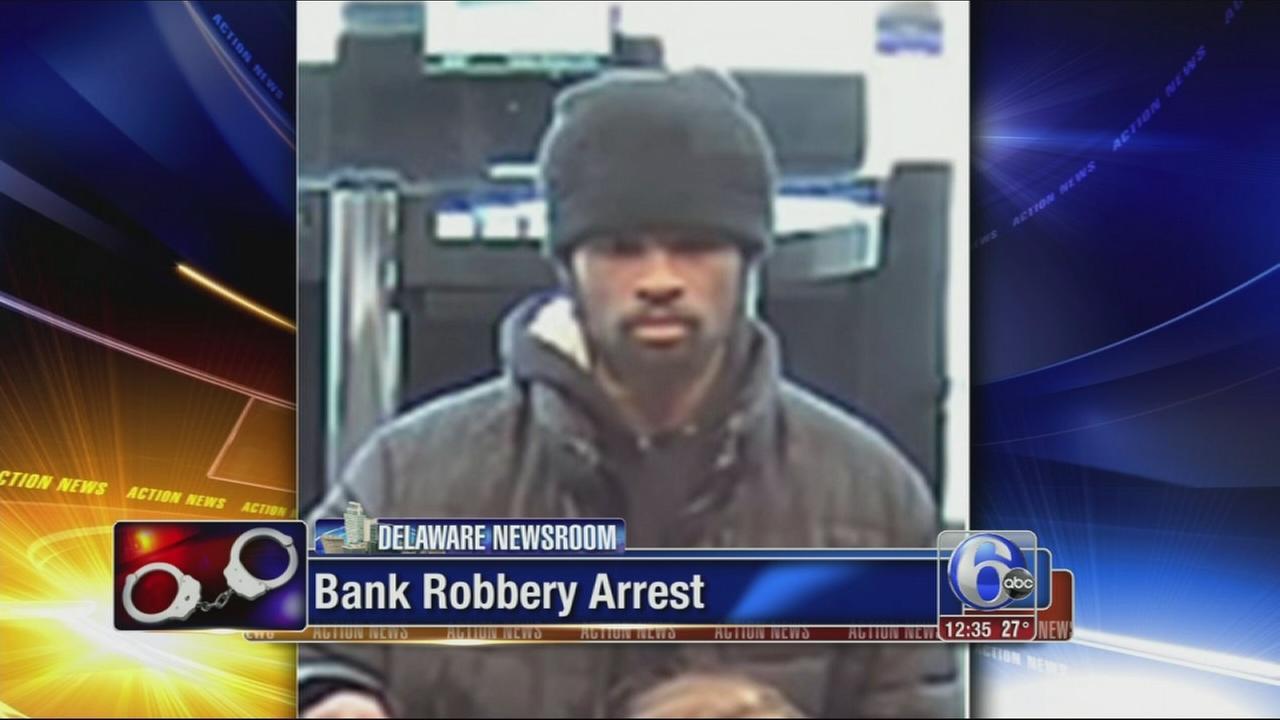 VIDEO: Arrest in Del. bank robbery