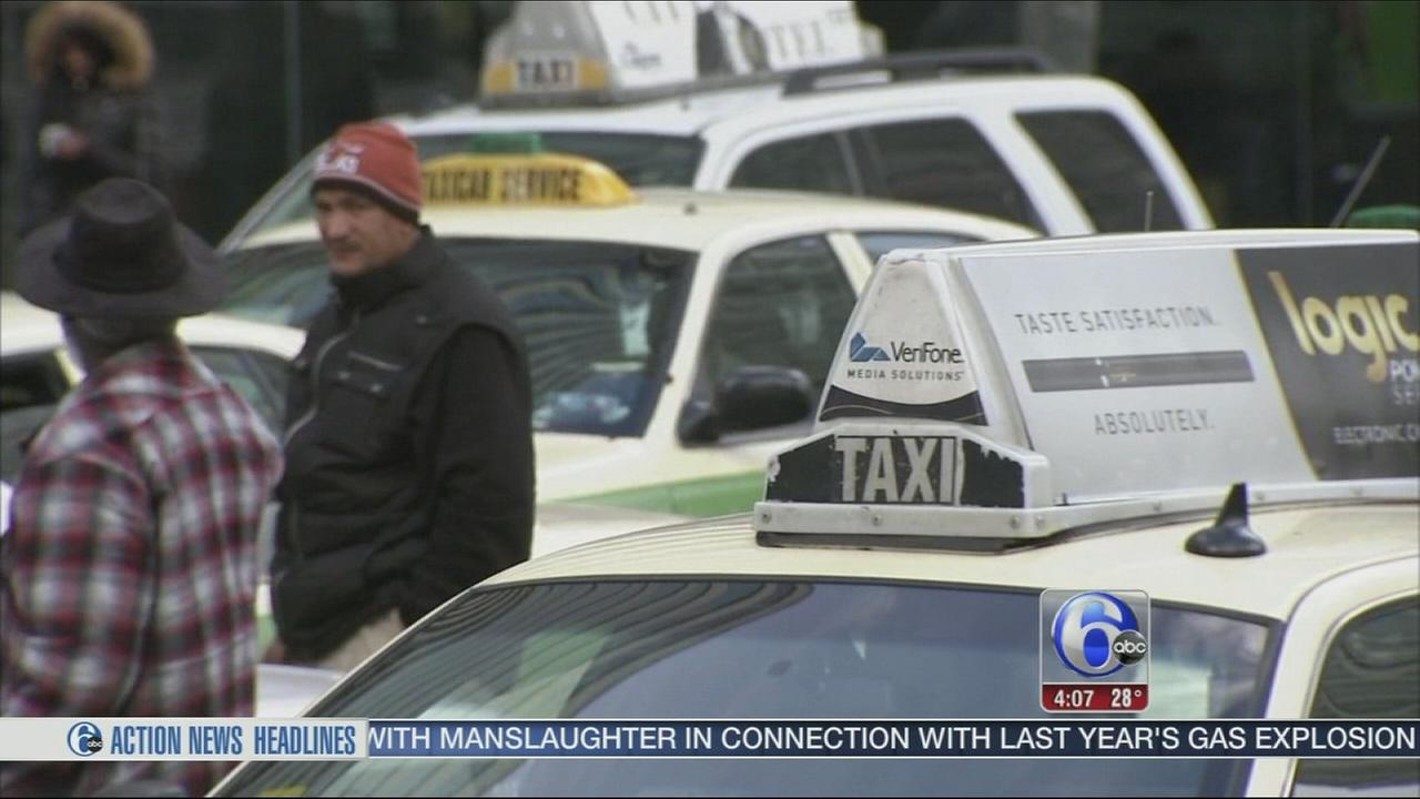 VIDEO: Taxi drivers protest Uber X