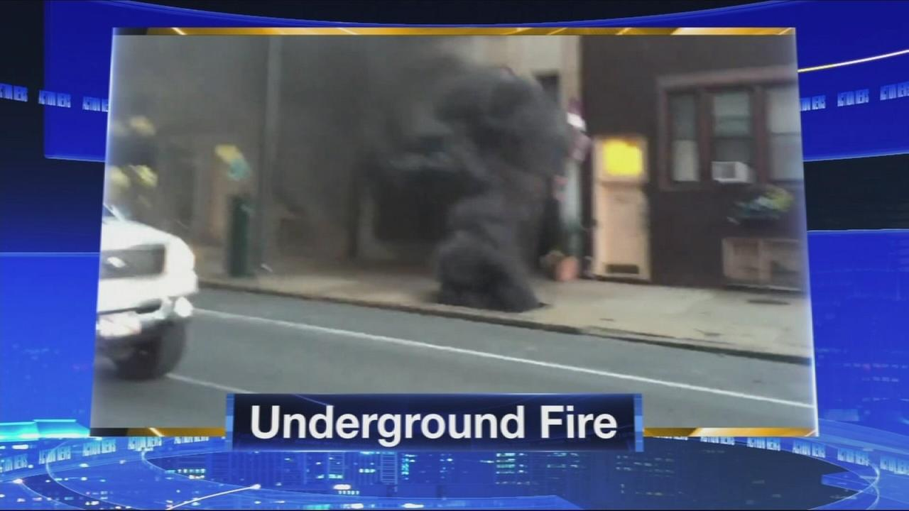 VIDEO: Underground fire