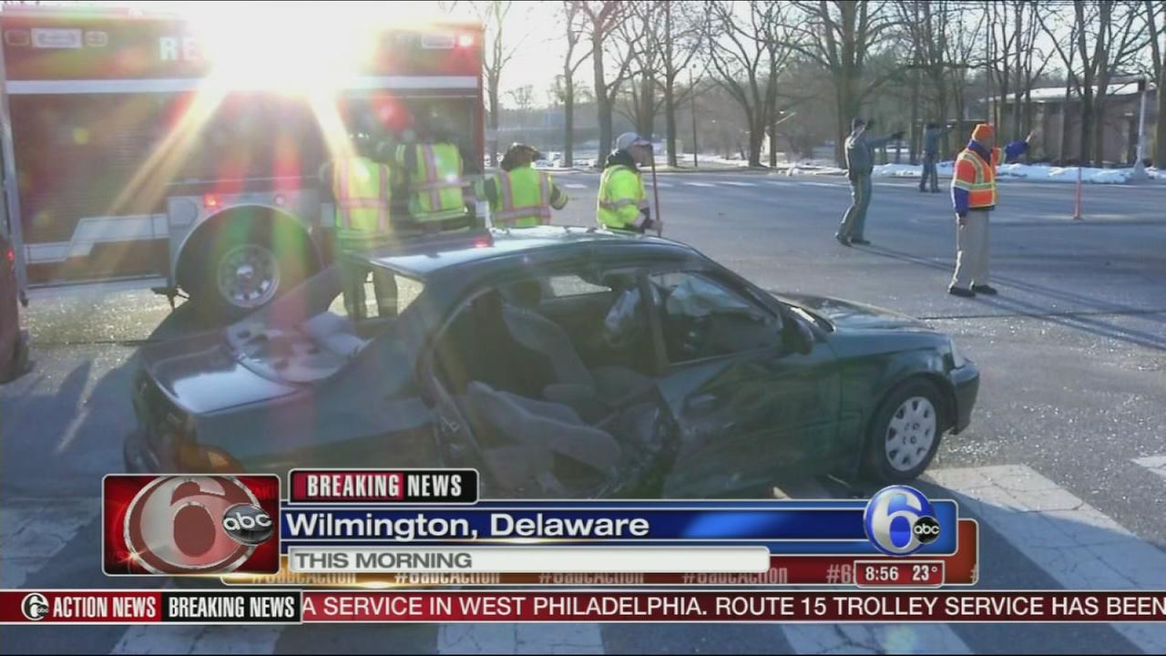 VIDEO: 2 injured in crash near Brandywine H.S.