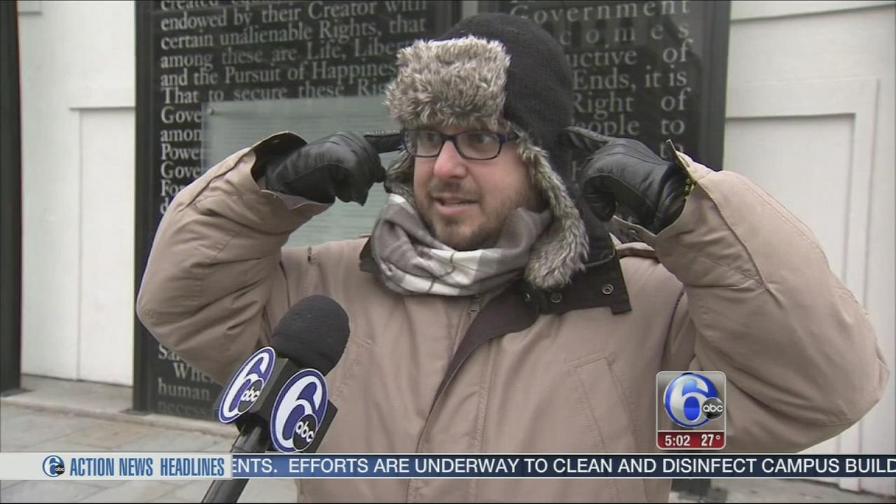 VIDEO: City goers bundle up in the face of dangerous cold