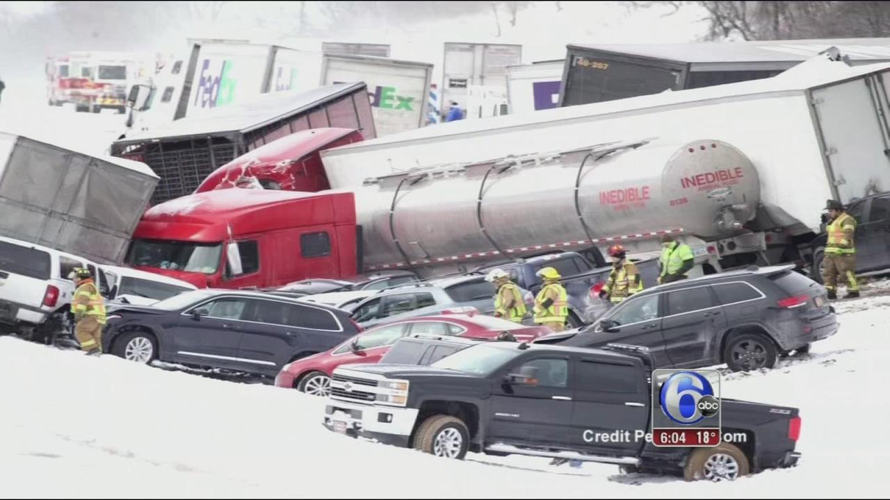 VIDEO: I-78 pileup