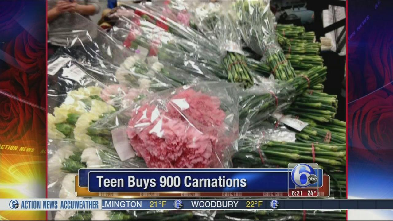 VIDEO: Teen buys 900 carnations