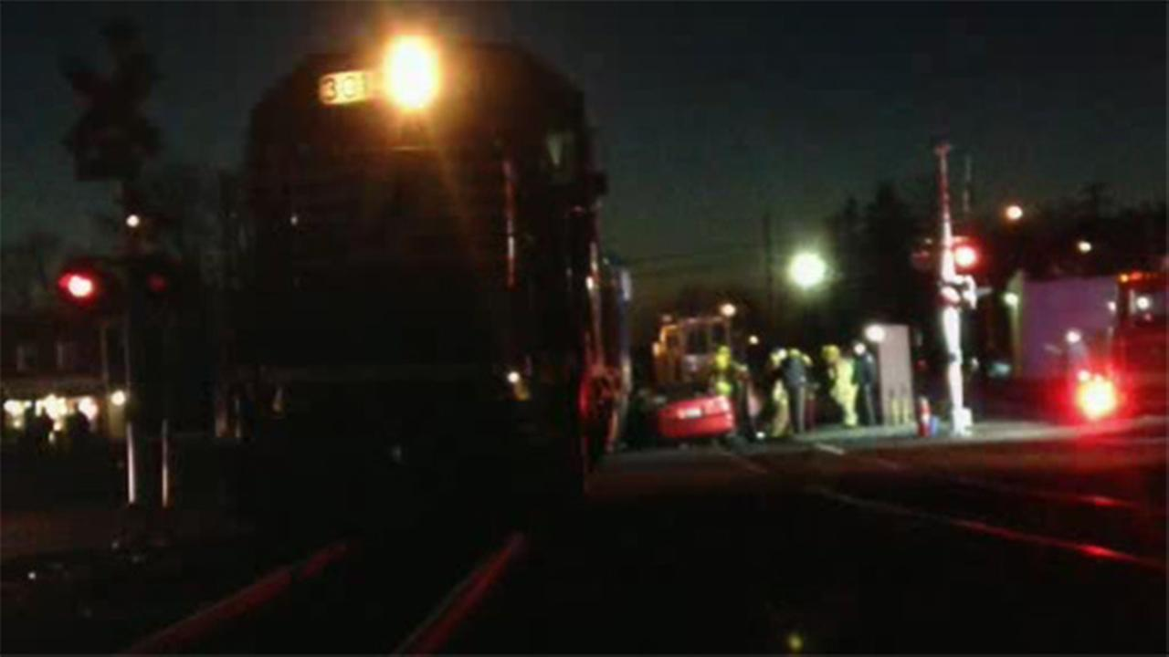 Mayor: Car hit trying to beat CSX train across intersection