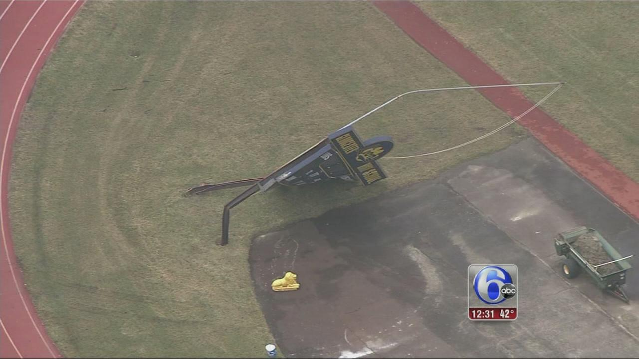 VIDEO: Storm cleanup in New Jersey