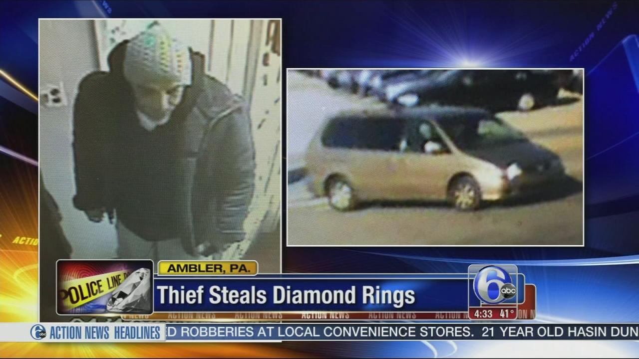 VIDEO: Thief steals Diamond rings in Ambler