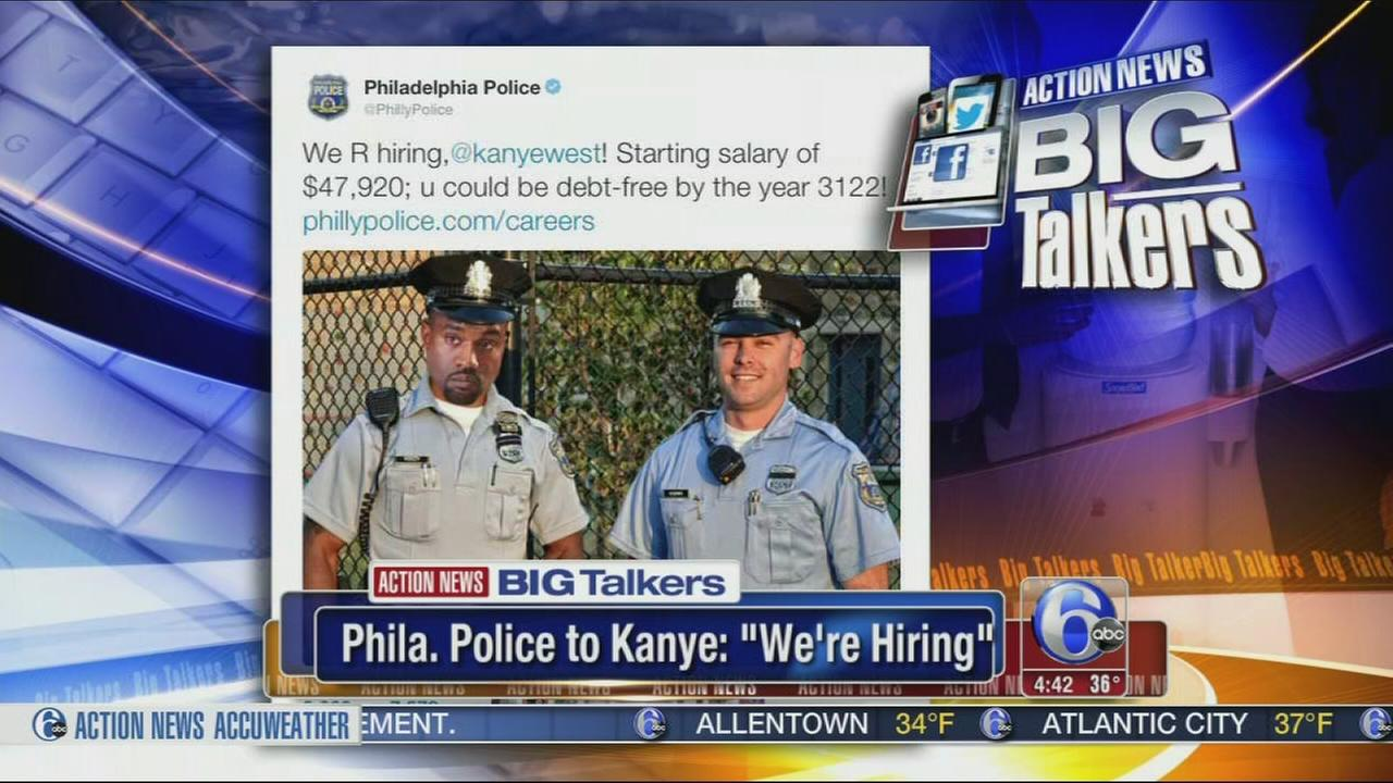 VIDEO: Philadelphia Police offer Kanye West a job