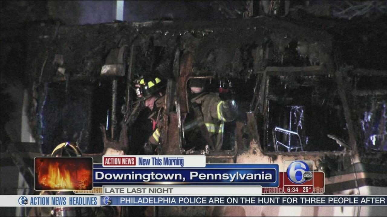 VIDEO: RV fire damages restaurant
