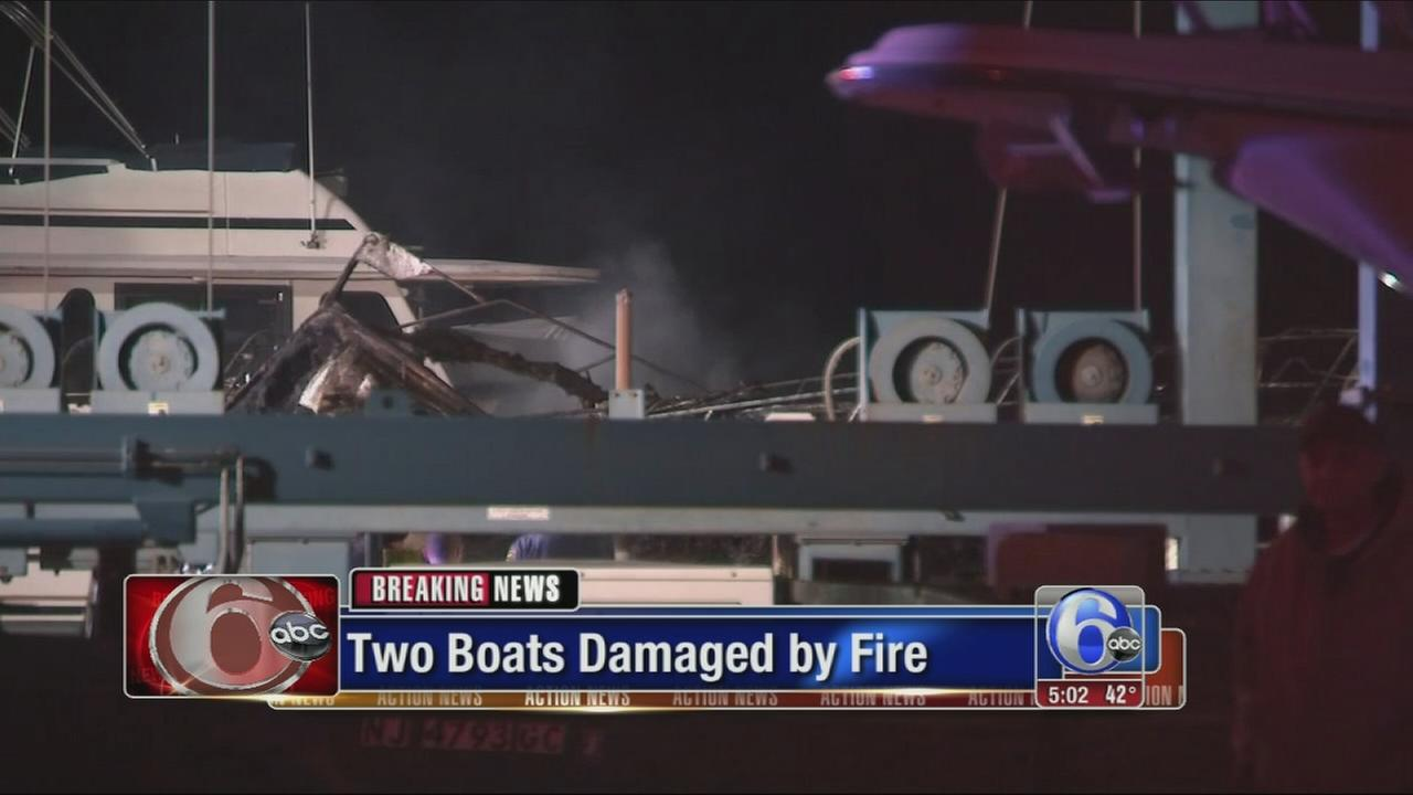 VIDEO: Marine fire in Middle Twp., NJ