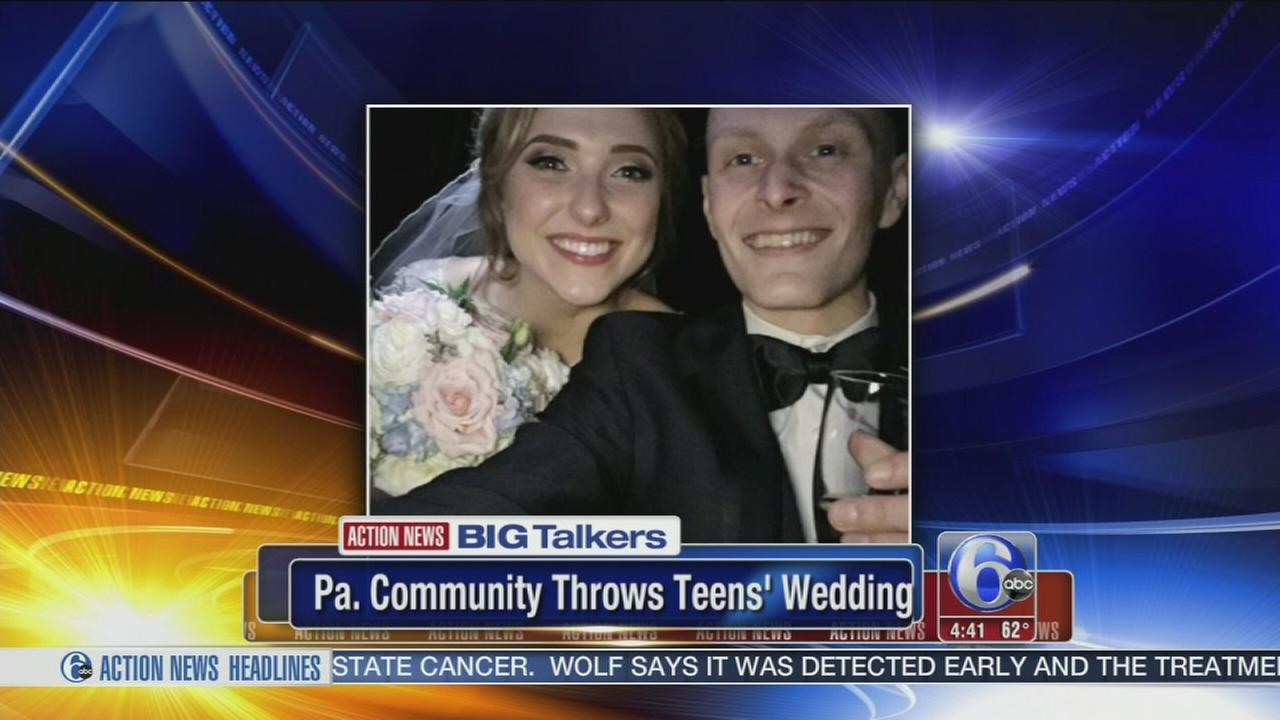 VIDEO: Pa. community throws wedding for teen with terminal cancer