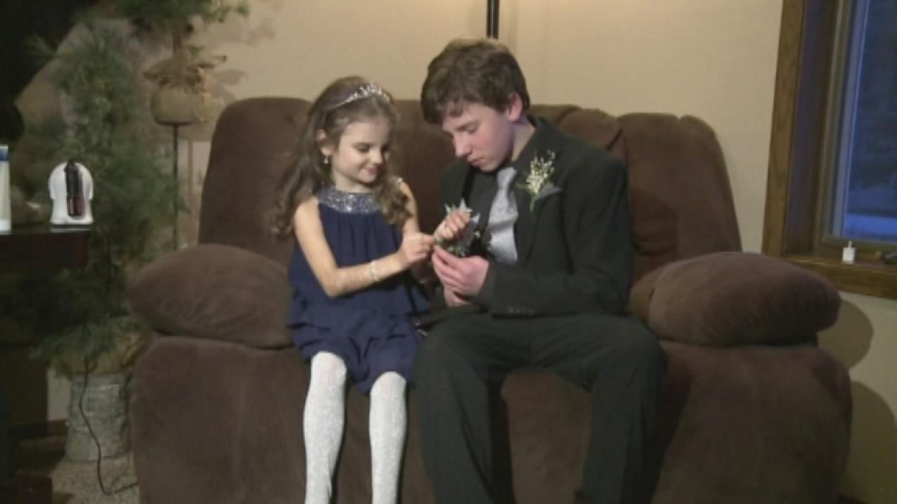 VIDEO: Brother takes dying sister to her first dance