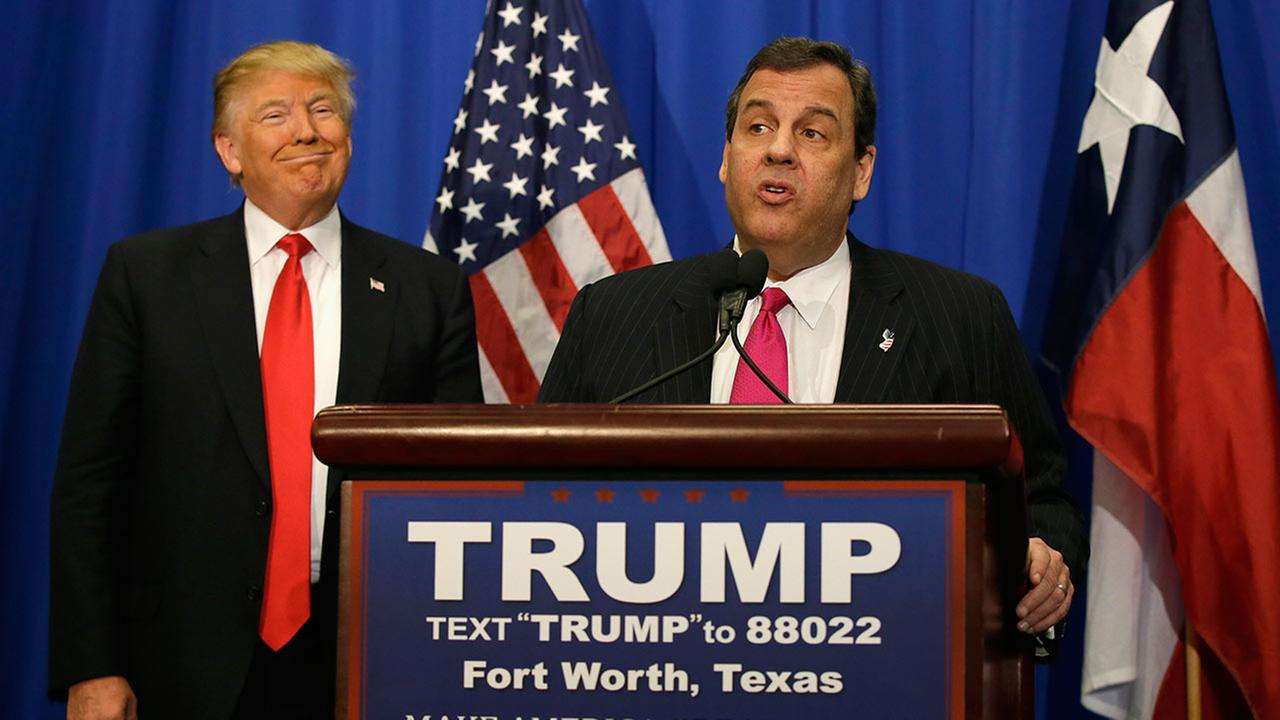 Gov. Christie named Trump transition team chairman