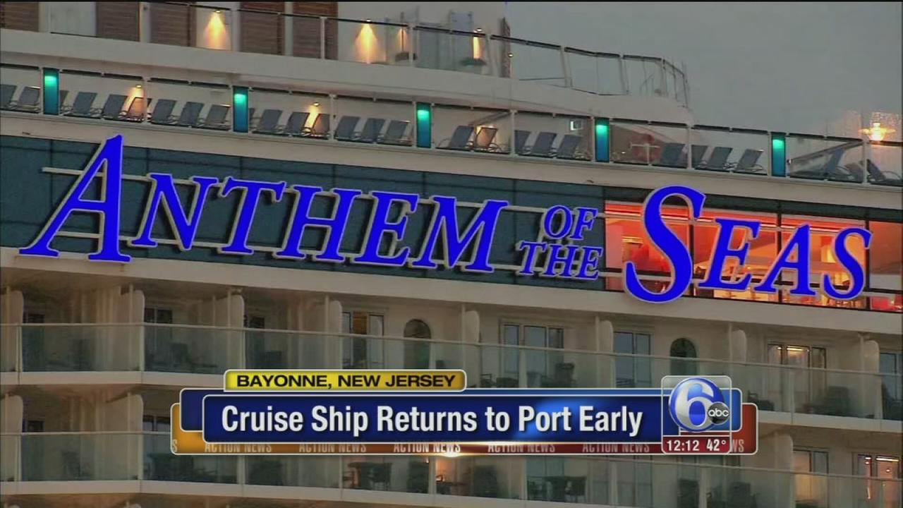 VIDEO: Cruise ship returns early to port