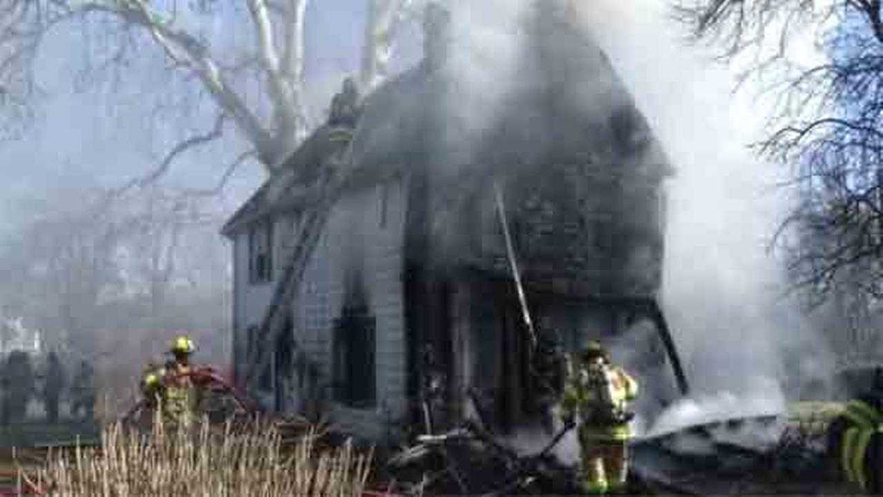 Firefighters battled a house fire in New Castle County.