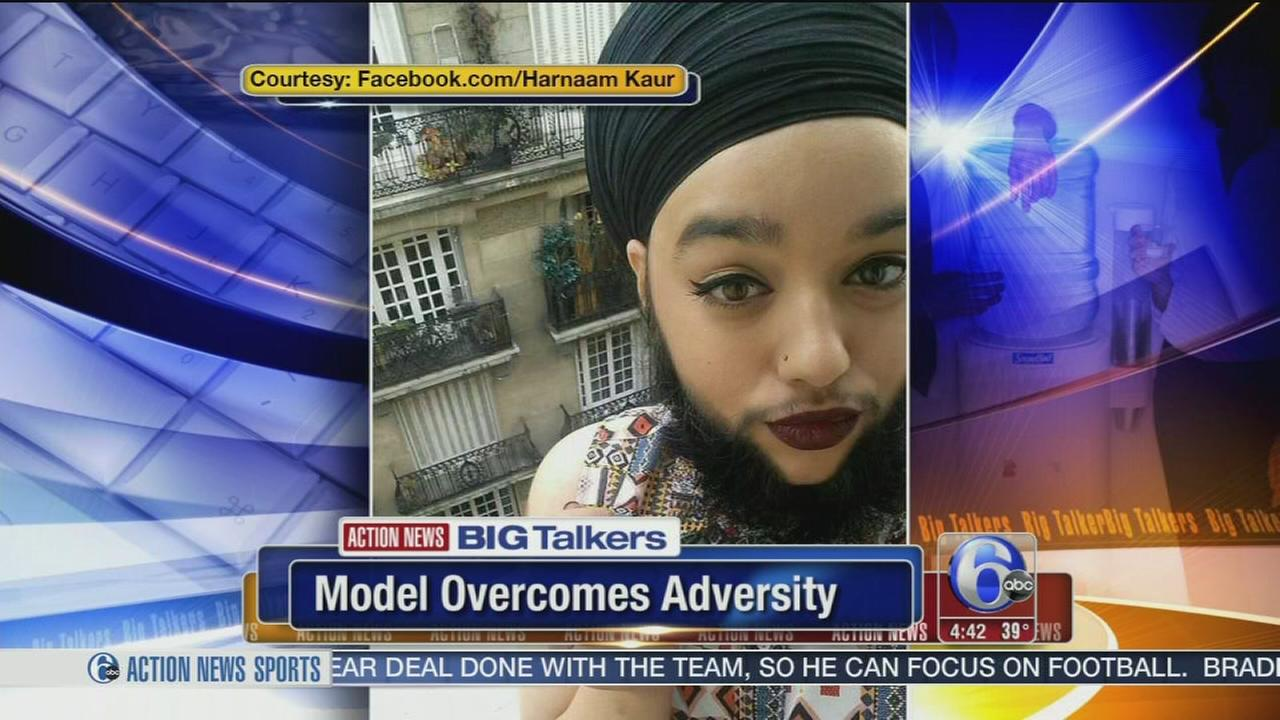 VIDEO: Woman overcomes adversity, becomes worlds first bearded model