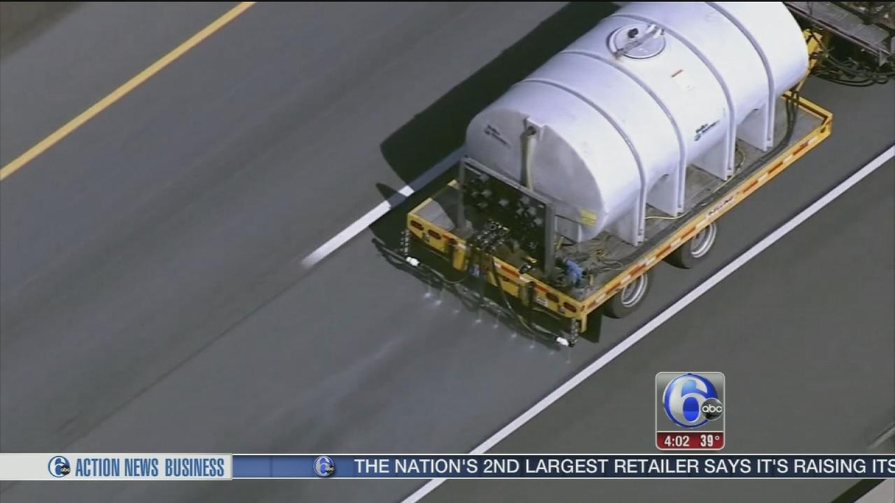 VIDEO: PennDOT brining roads ahead of snow