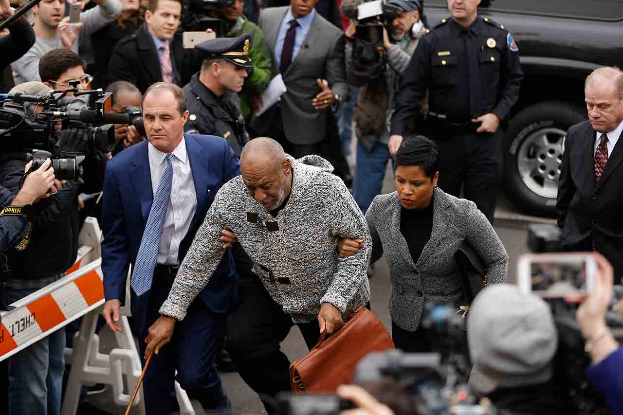 <div class='meta'><div class='origin-logo' data-origin='none'></div><span class='caption-text' data-credit='AP Photo/Matt Rourke'>Bill Cosby stumbles as he arrives at court to face a felony charge of aggravated indecent assault Wednesday, Dec. 30, 2015, in Elkins Park, Pa.</span></div>