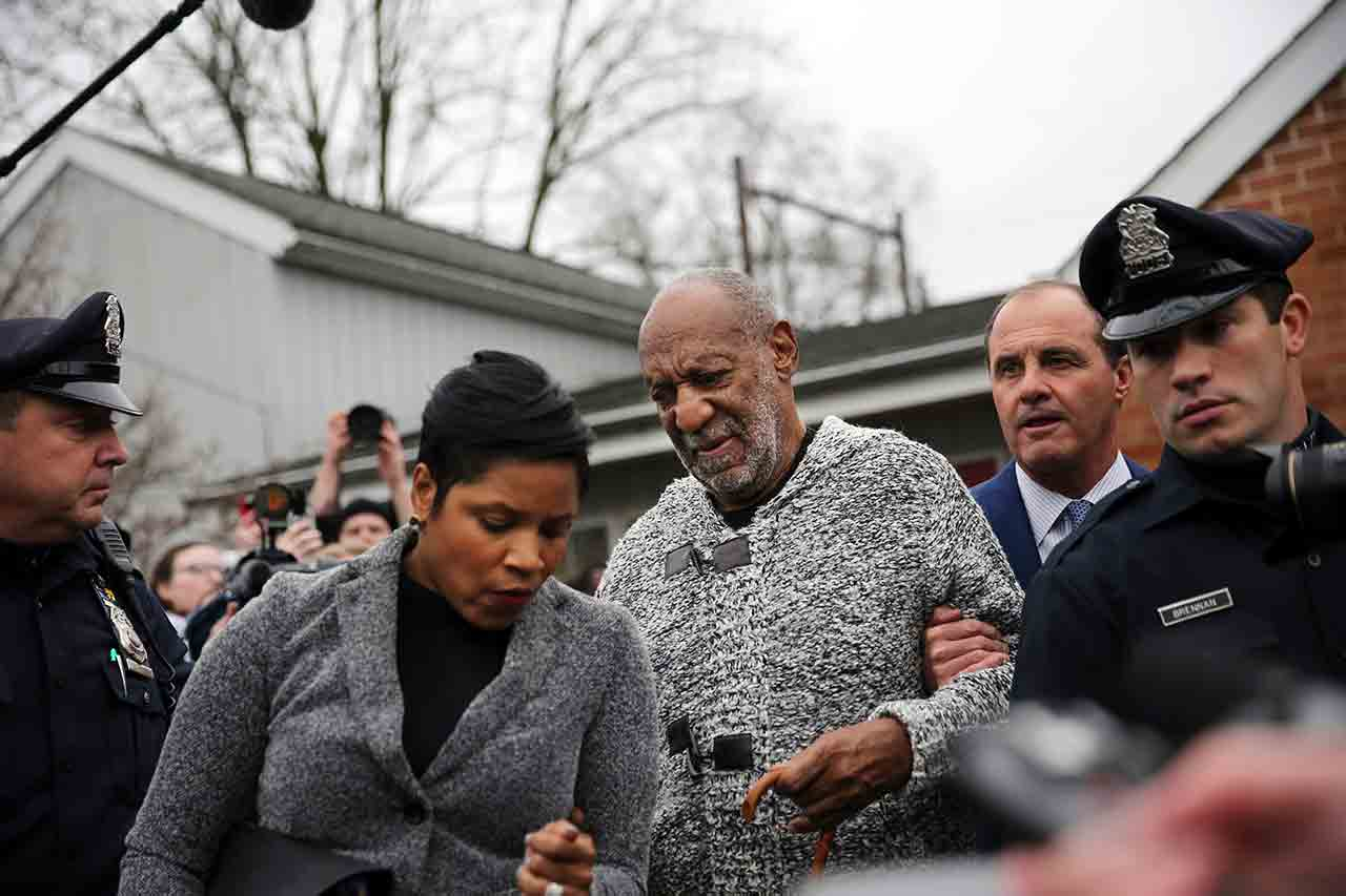 <div class='meta'><div class='origin-logo' data-origin='none'></div><span class='caption-text' data-credit='AP Photo/Mel Evans'>Actor and comedian Bill Cosby is helped as he leaves a court appearance where he faced a felony charge of aggravated indecent assault Wednesday, Dec. 30, 2015, in Elkins Park, Pa.</span></div>