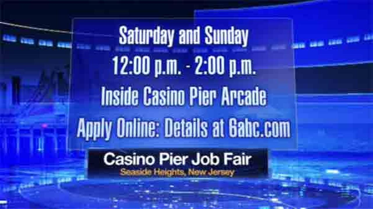 Casino Pier in Seaside Heights is holding two job fairs this weekend - one on Saturday and the other on Sunday.