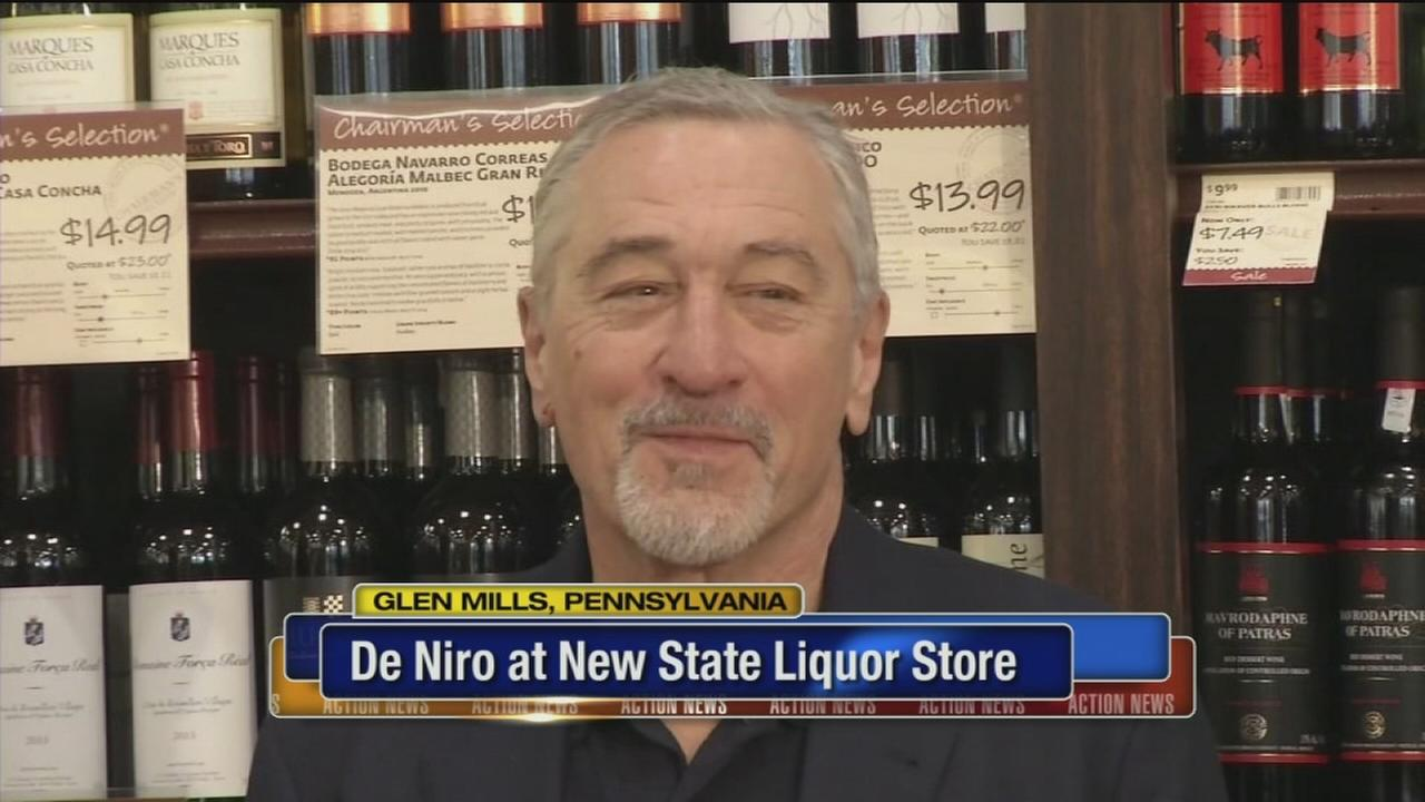 VIDEO: De Niro at new Pa. state liquor store in Glen Mills