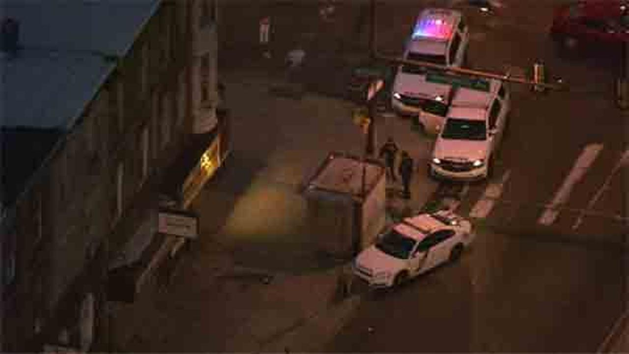 A would-be robbery victim turned the tables on his aggressor in North Philadelphia.