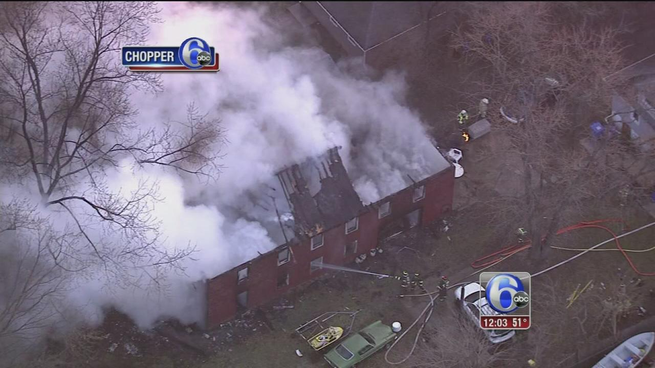 VIDEO: Fire damages building in Moorestown
